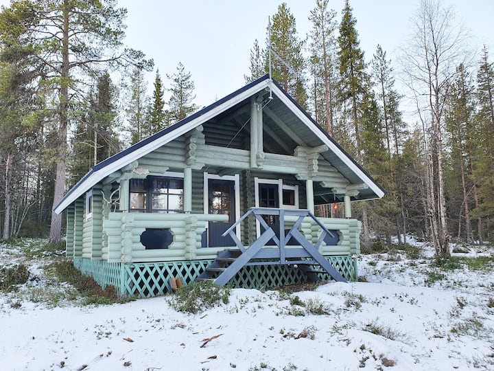 Wilderness Riverside Cottage near Ylläs, Lapland