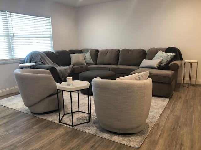 pull out sofa in living room