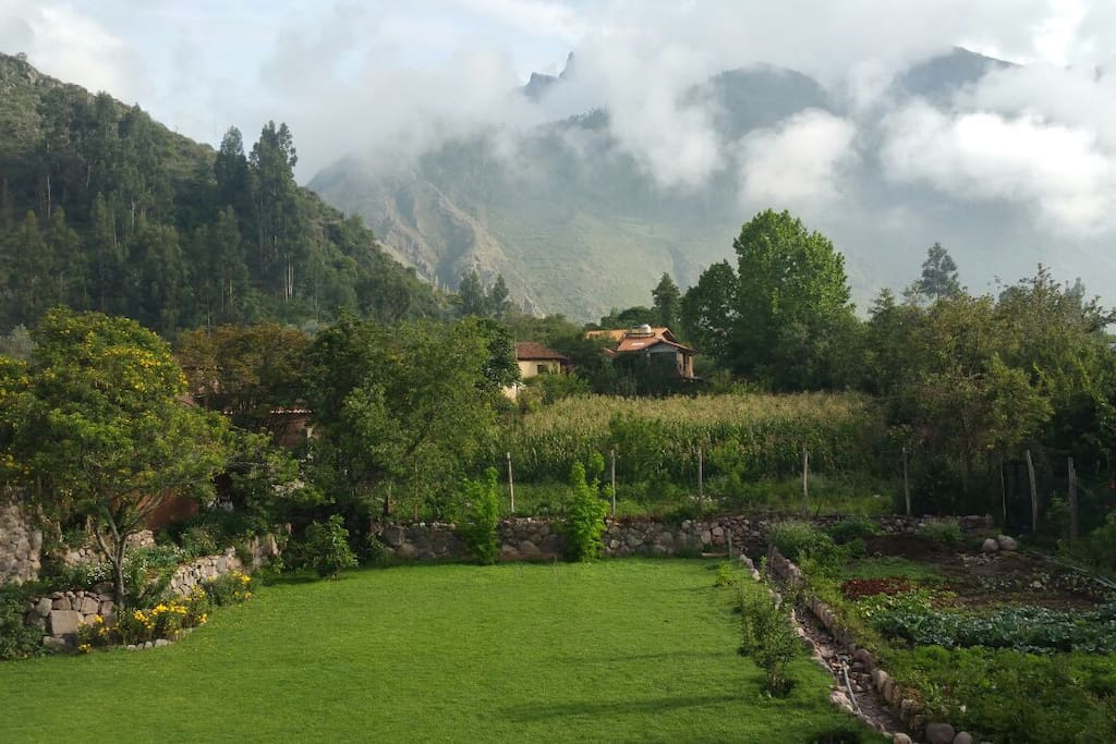View of Garden and Mountaines