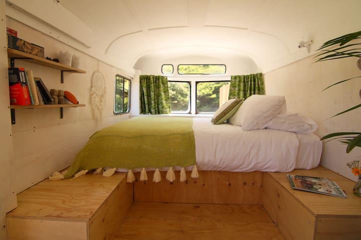 Comfy queen bed with luxury bed linen