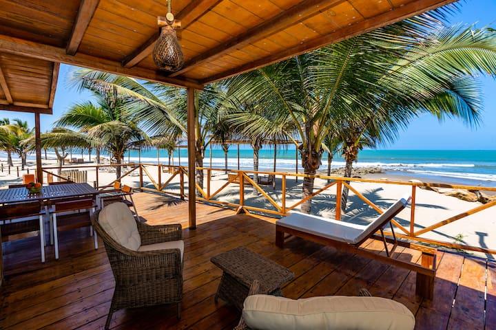 Bungalow de playa Punta Camarón.