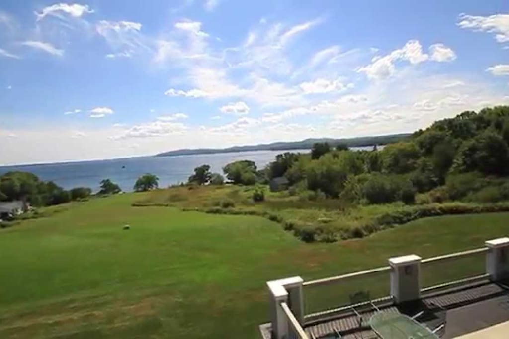 View from hotel-Lawn cottage is closer to Penobscot Bay