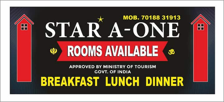 Safe & sanitized room with room service available.