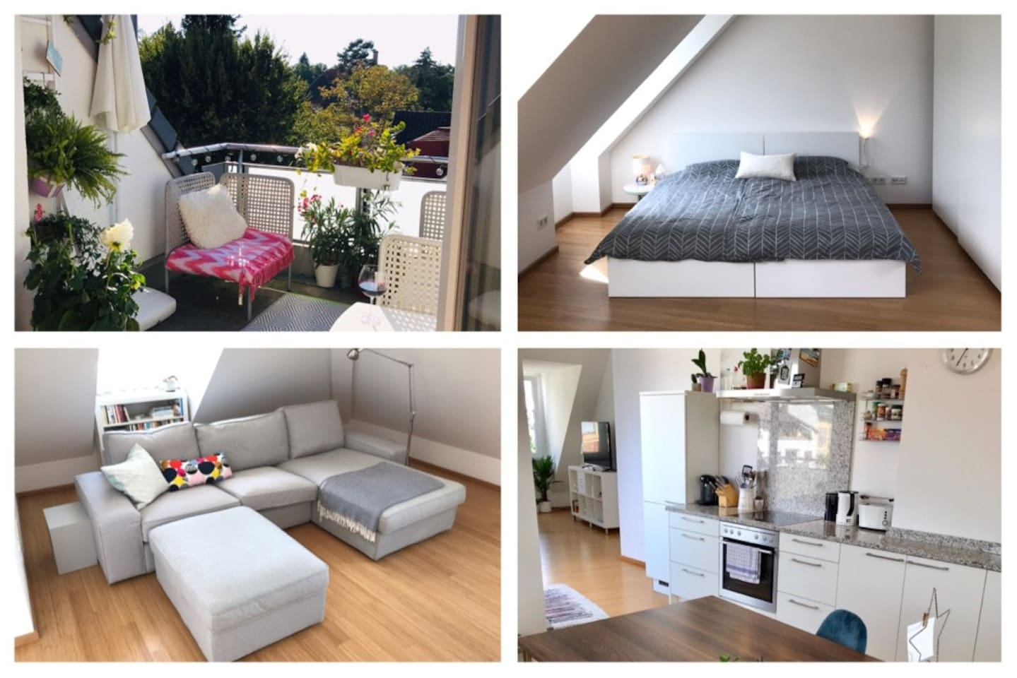 Cozy flat 66qm, private bathroom, bedroom, big kitchen and living room, including sunny and charming balcony :)