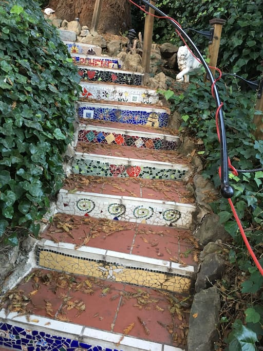 Some of the beautiful steps going up to the front door.