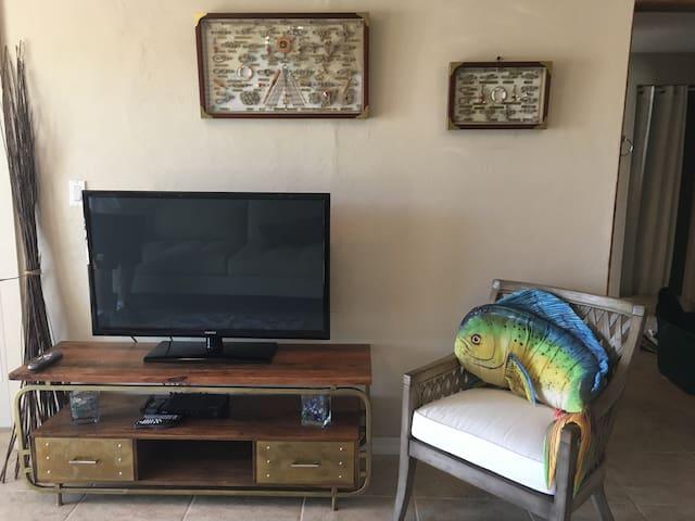 Large flat screen flat tv