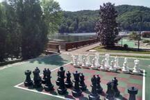 Resort's outdoor games area