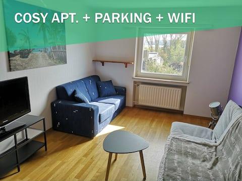 COSY DUPLEX APT. + WIFI + PARKING