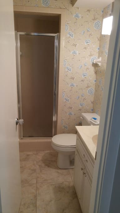 Bathroom shared by another guest room