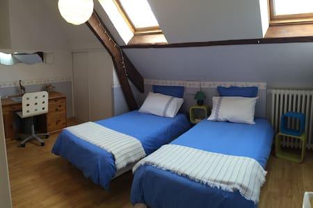 Chambre privée 2 lits simples - Caen