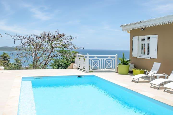 Océane ( 2 pers ) dans villa créole avec piscine
