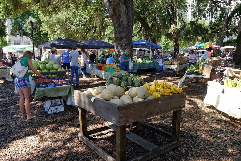 Farmers Market  Opens 10AM Sun only