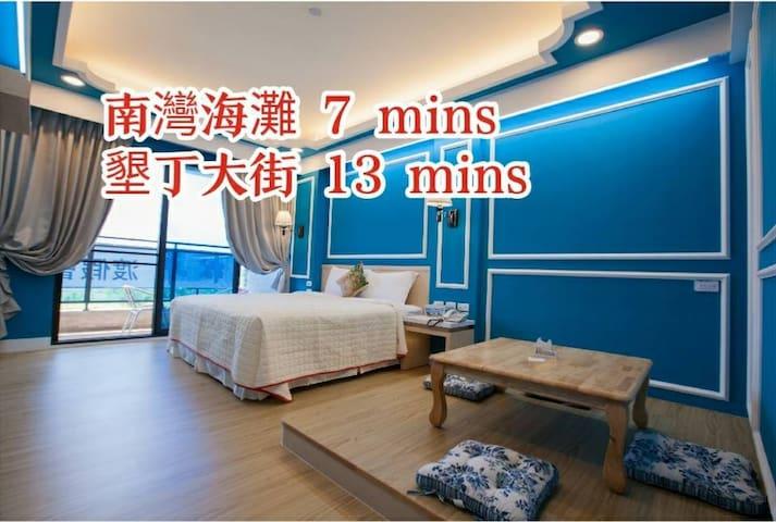 國旅補助(接送免費)SongPing INN雙人房✿關山平原景觀陽台・電梯・獨立衛浴