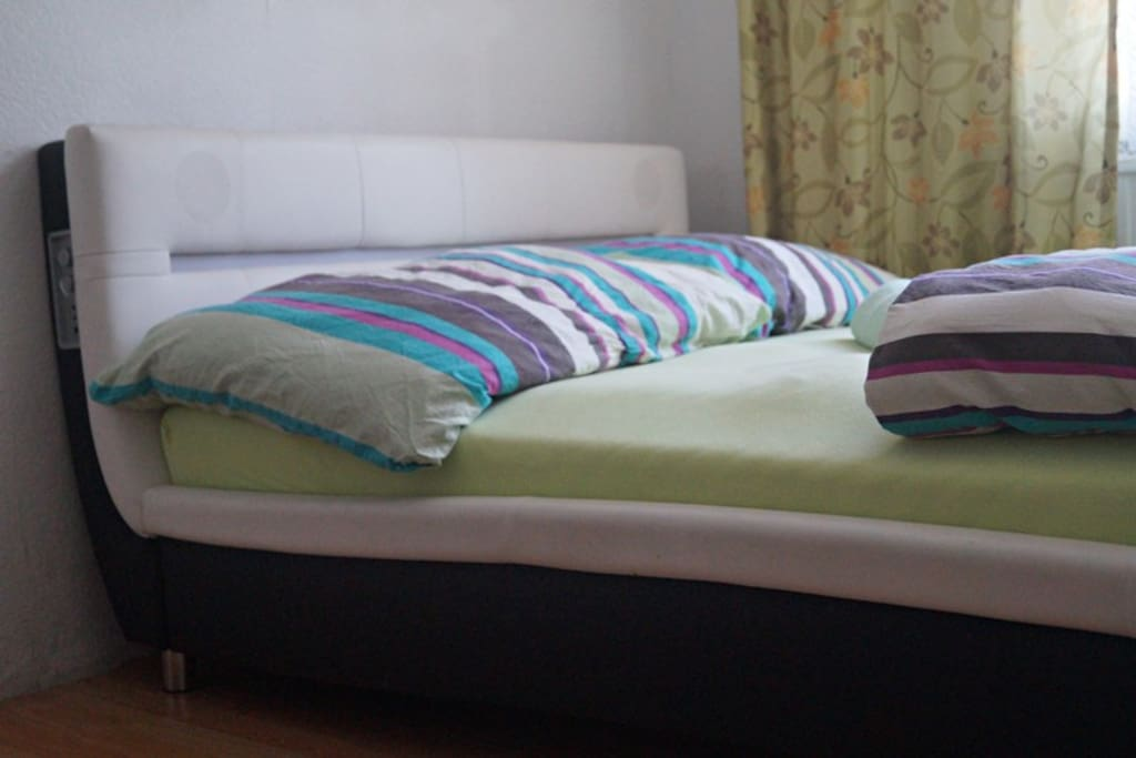 Comfortable bed where you can relax well after long day