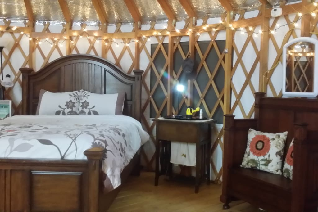 Experience the unique atmosphere  of a yurt  as you enjoy all that Paradise Valley has to offer.