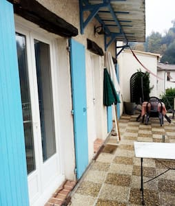Room in country cottage, large terrace. - Contes - Bungalow