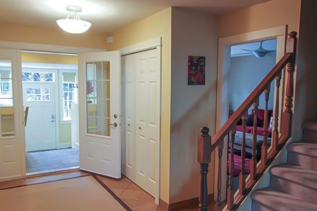 Main entrance leading to living room and kitchen
