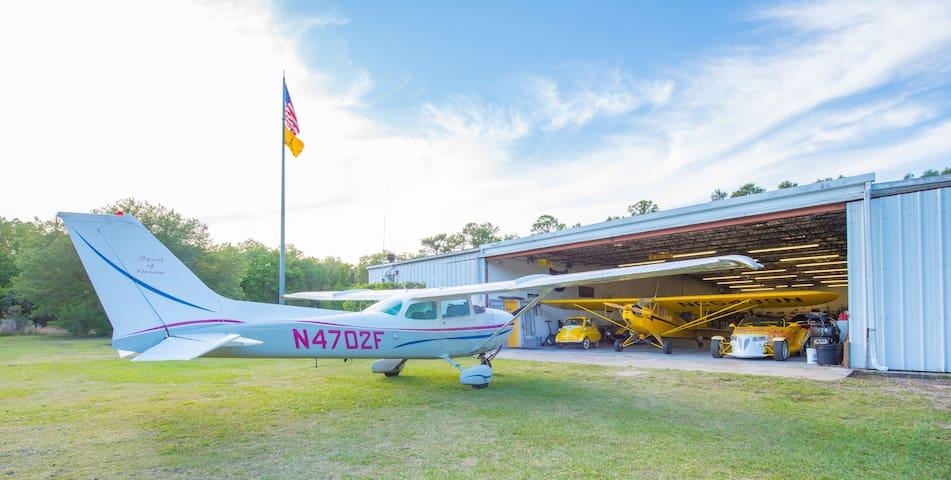 My Cessna 172 and J3 cub.
