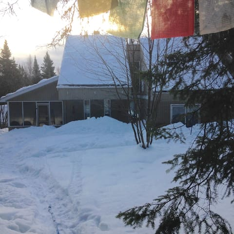 Cozy Laurentian Home with Ski/Snowshoe Trails. - Sainte-Lucie-des-Laurentides - Casa