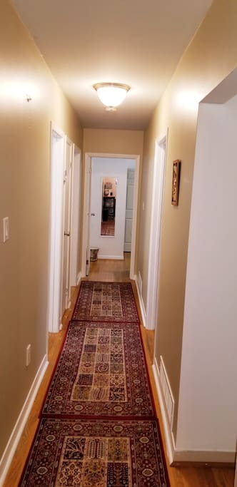 Hallway - room is on first right! Guests use the side entrance!