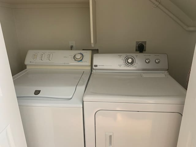 Washer and Dryer in Downstairs Bathroom