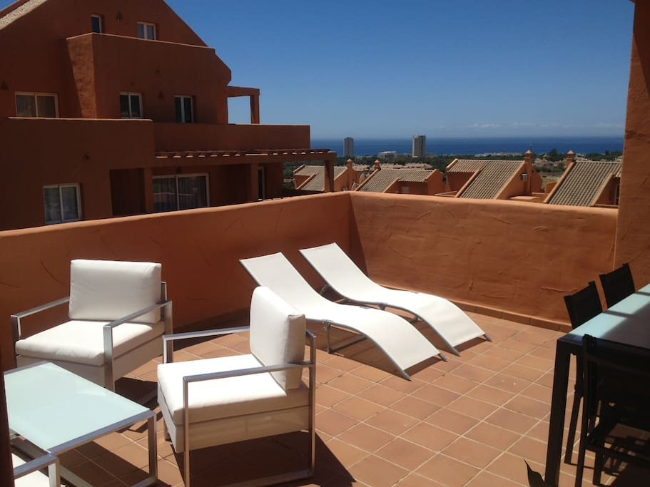 Sunny terrace with great views