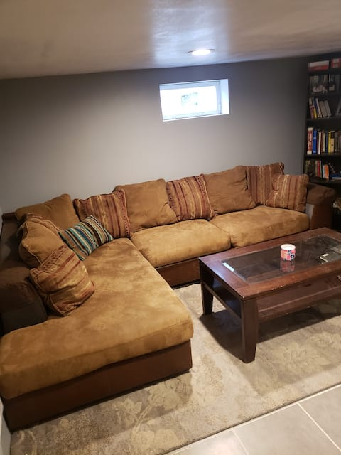 Three Bedroom space with living room