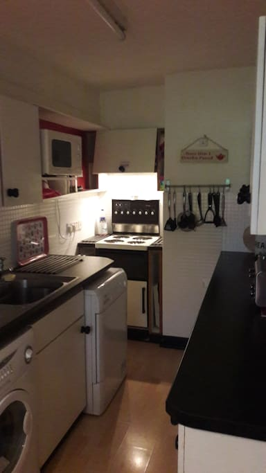 our well equipped galley kitchen has all you need