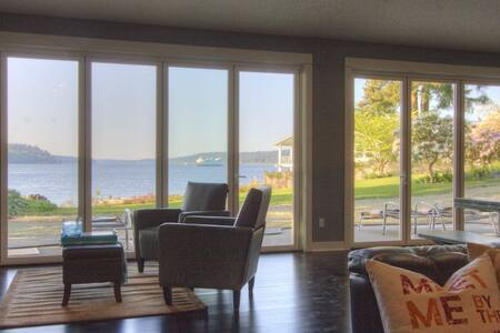 5 Bdrm, 150' of Sandy Beach. - Port Orchard - House