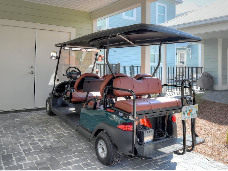 Complimentary Brand New 6-Seater Golf Cart to take you Anywhere!