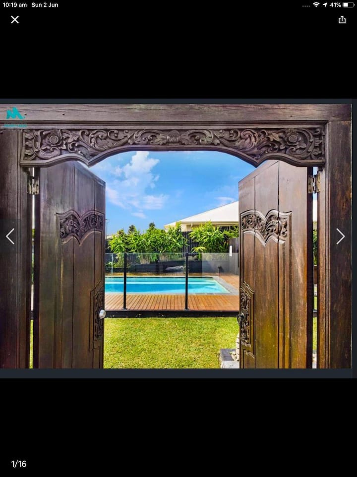 Private oasis  Once you open the Balinese gates