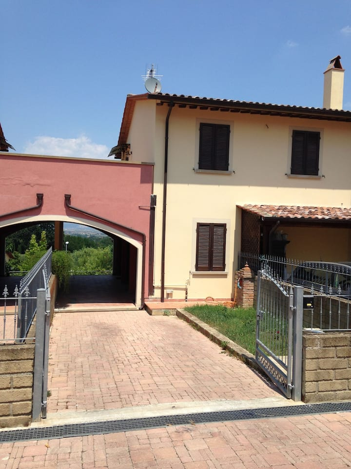 Villa on the Tuscan hills