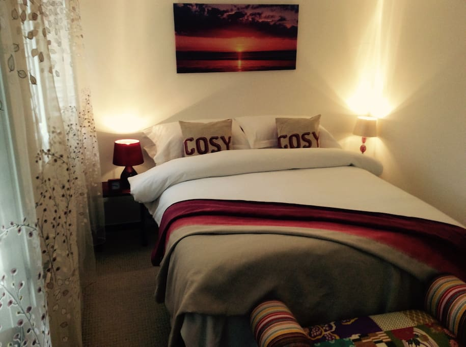 Double bed with fine Egyptian cotton linen  The bed where you will be sleeping