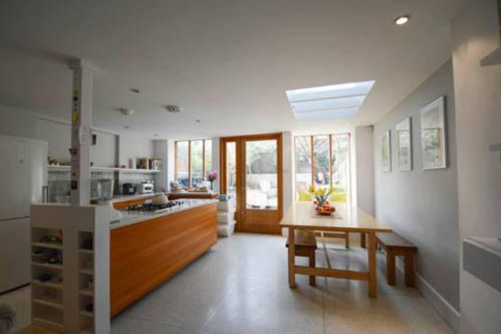 large bright modern kitchen