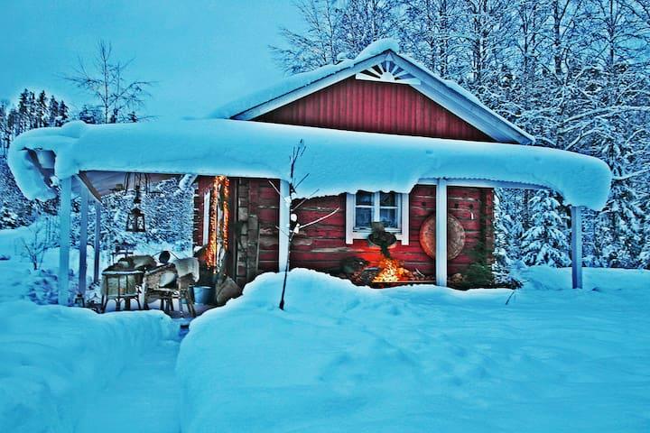 The cottage in the winter time - Mökki talvilumilla
