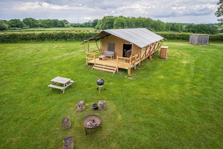 Safari Tent Glamping Gambledown Farm, Hampshire(3)