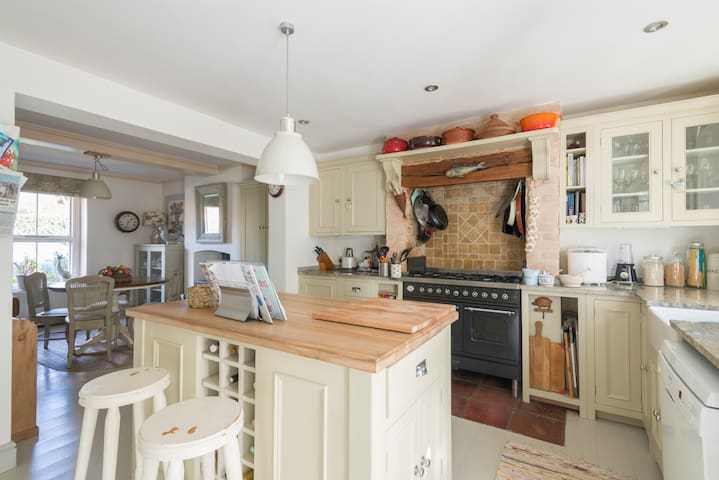 A well equipped and stylish kitchen