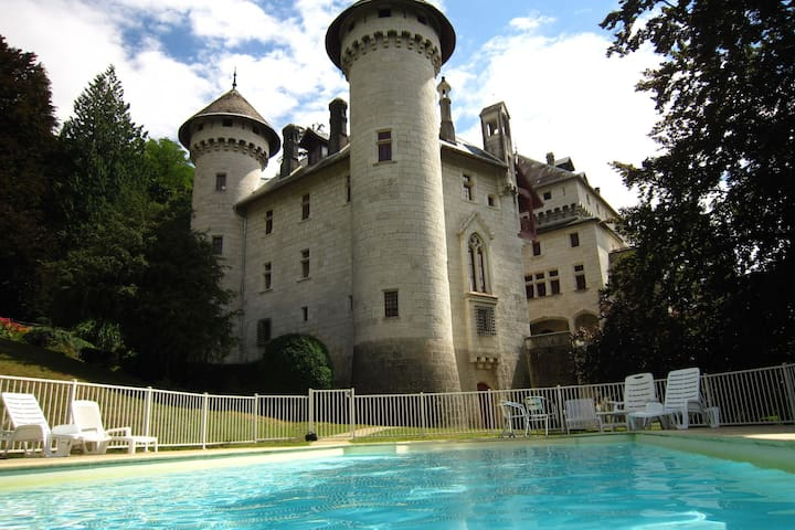 Castle apartment with swimming pool and beautiful view of the Grand Colombier