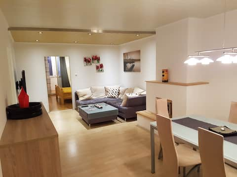 Beautiful apartment with loggia and parking