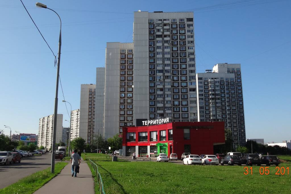 Really close to Spartak Stadium, 5 min by the taxi