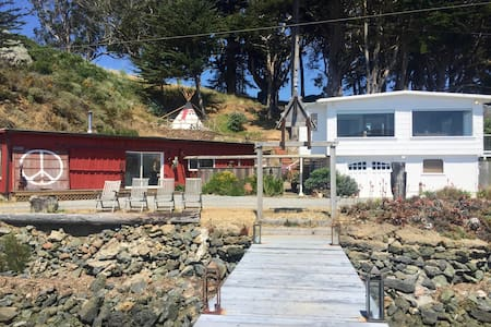 Two homes plus teepee  Tomales Bay - 马歇尔(Marshall) - 独立屋
