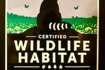 It's official!  We're a Wildlife Habitat!