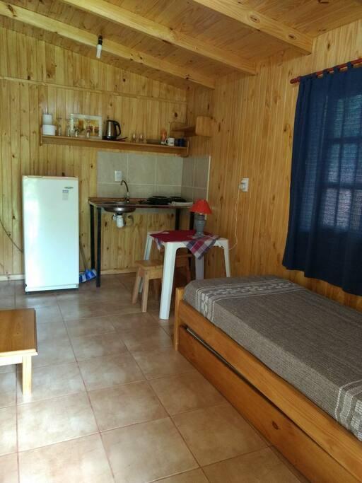 Interior cabaña.