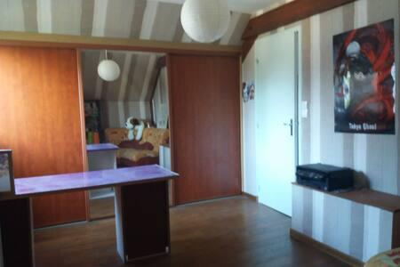 Chambre de 13 m2, au calme avec SDE partagée, wifi
