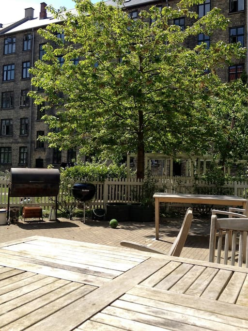 The back yard - barbecue avilable