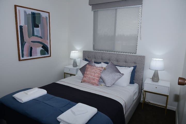 Second bedroom with Queen bed & built-in robe