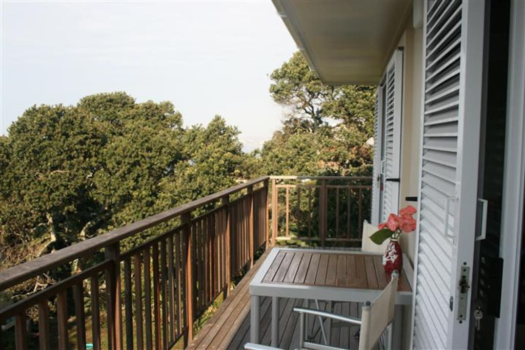 Wooden verandah, perfect for relaxation