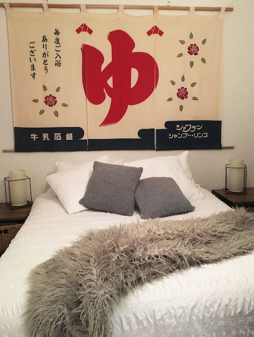 Ground floor bedroom with queen bed