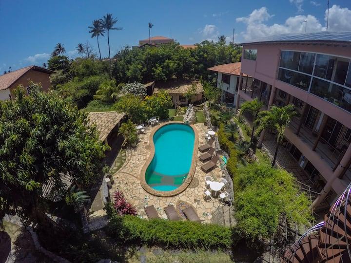 Apartamento casal na Pousada Tropical Wind