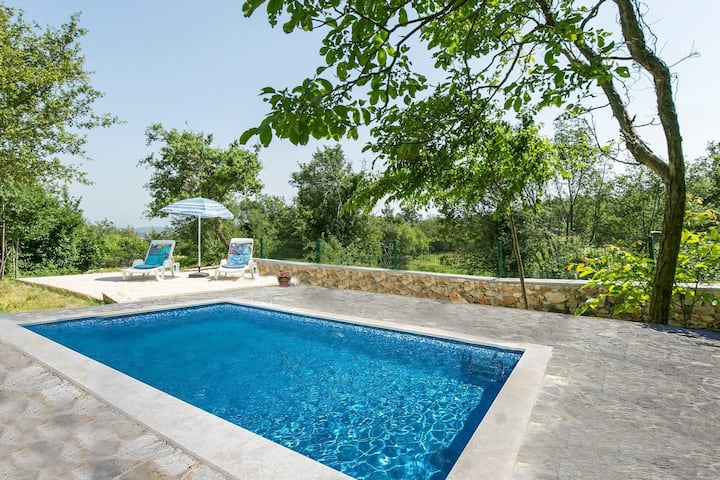 House for 2+2 persons with pool in Labin R51733